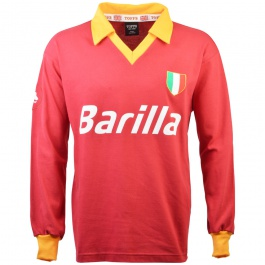 Maillot AS Roma 1983 1984  Barilla