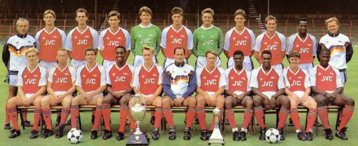 Maillot Arsenal 1988-1989
