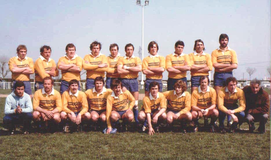 Maillot Rugby Montferrand 1977