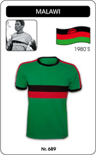 Maillot Malawi 1980's