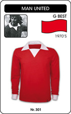 Maillot Manchester United 1970's